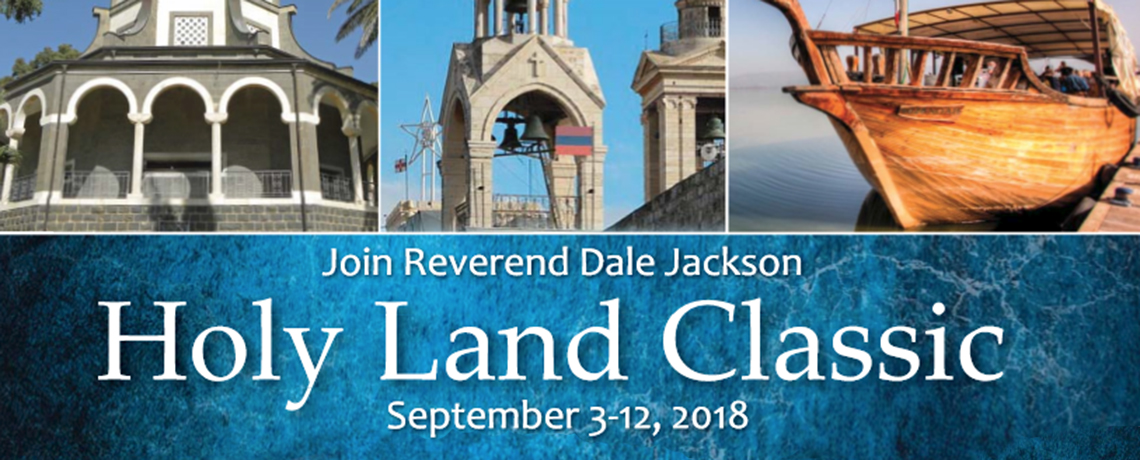 Join Reverend Dale Jackson of Riverside Presbyterian Church for the Holy Land Classic